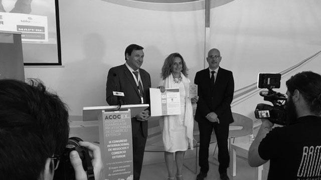 Alcobendas HUb recoge el premio Infebex como servicio de referencia para empresas que se quieran internacionalizar