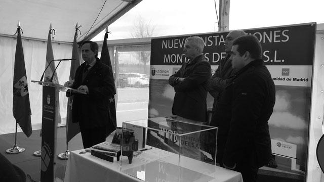 Alcobendas Hub da la bienvenida a una nueva empresa. Primera piedra de la empresa Montajes Delsaz